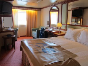 Crown princess cabins book covers for Alaska cruise balcony room