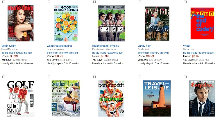 Travel Magazine Subscriptions for 99 Cents